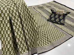 Olive daily wear cotton sarees online