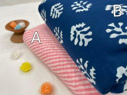 Pink and blue Pure cotton running fabric set