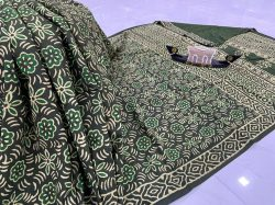 Teal Green daily wear cotton saree online
