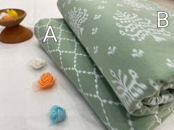 Acapulco green cotton ethnic wear running material set