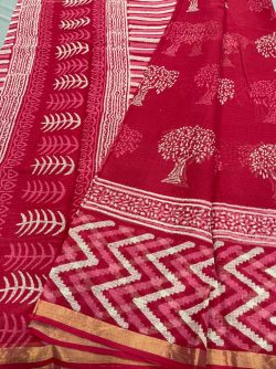 Ruby kota doria saree design