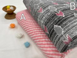 Pink And Black white pure cotton running fabric