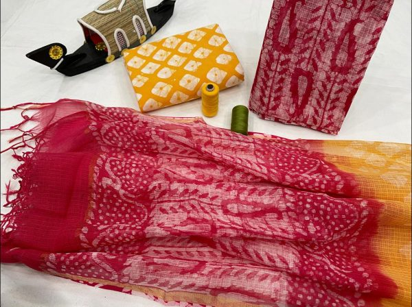 Crimson kota doria suits wholesale