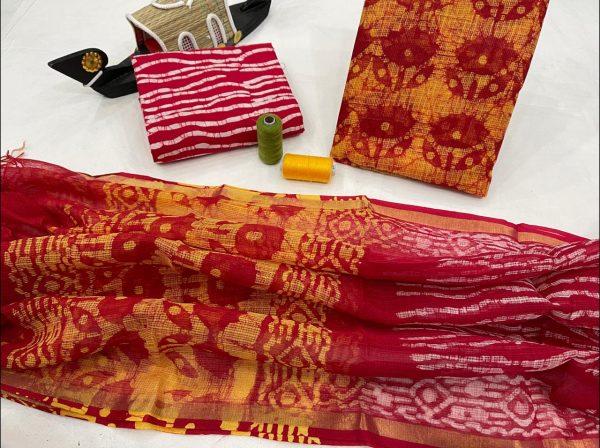 Crimson kota doria suits designs