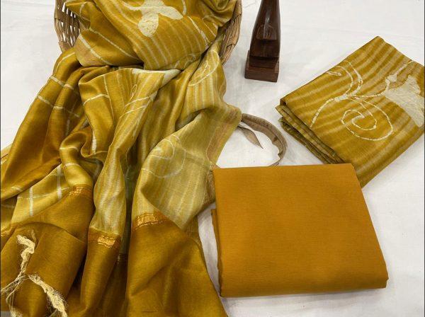Brown and lime salwar Kammez ethnic wear ladies suit
