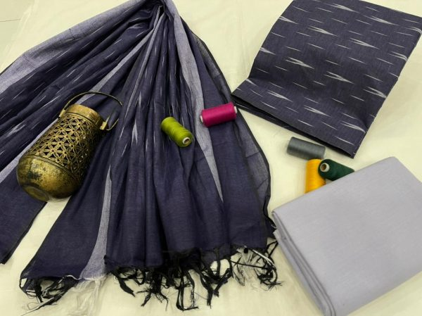 Blue Jaipuri ikkat salwar suit set