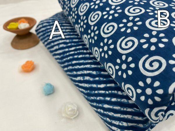 Indigo blue Running material set
