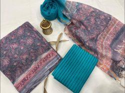 Blue and azure kota doria suits in jaipur