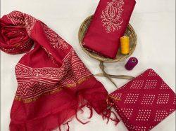 Crimson chanderi silk salwar suits online
