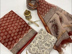 Carmine And Beige kota doria suits online shopping with dupatta