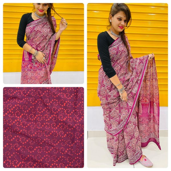 Rouge daily wear cotton sarees with price