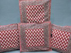 Carmine Bagru print Bed cushion cover