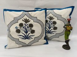 White floral print Bed cushion cover