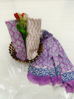 Amethyst cotton suit pieces with price
