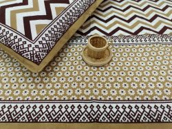 Bronze cotton bedsheet with 2 pillow cover