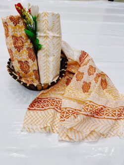 Coral and white cotton churidar online shopping india