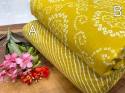 Light Mustard cotton running material set