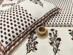 White bedsheet with pillow cover