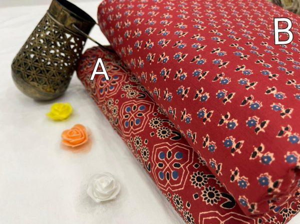 Crimson cotton running material set