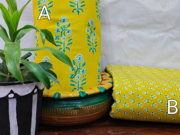 Lemon-Lime Jaipuri running mateial set