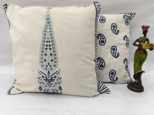 White 2 peice Cotton cushion set