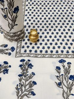 White floral print single bed sheet without Pillow