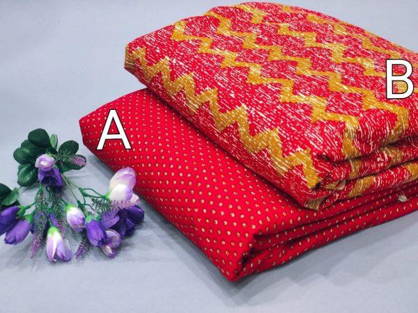 Crimson pure cotton running material set