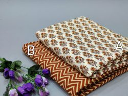 Superior quality White and brown pure cotton running material