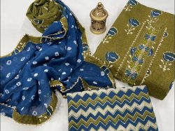Olive And Blue gota work suits buy online