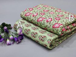 Dull green pure cotton running material set