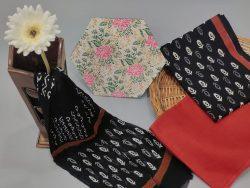 Black cotton suits with pure dupatta