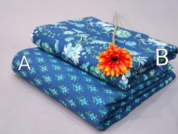 Blue pure cotton running material set