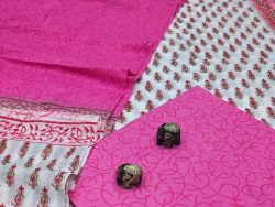 Magenta cotton dupatta suits wholesale
