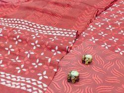 Light Coral cotton dupatta suits wholesale