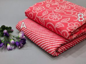 Coral pure cotton running material set