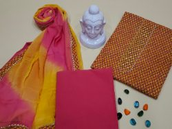 Marigold and rose  gota work suits With dupatta online india