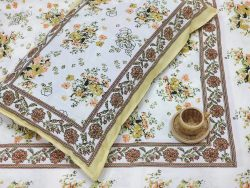 White cotton bedsheet with 2 pillow cover