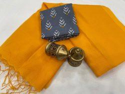 Amber Plain kota doria saree with blouse