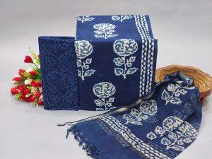 Blue color office wear salwar kameez designs with dupatta