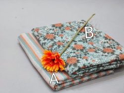Pale Turquoise cotton running material set