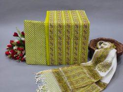 Lime color office wear Cotton suit kota doria dupatta