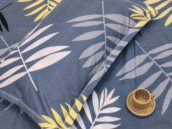 Gray Ploy cotton bed sheet with piillow cover
