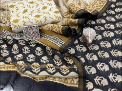 Black Chanderi suit with chanderi dupatta online