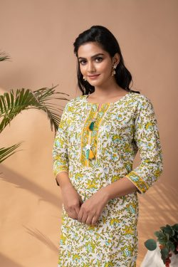 Stitched Cotton Top bottom without dupatta