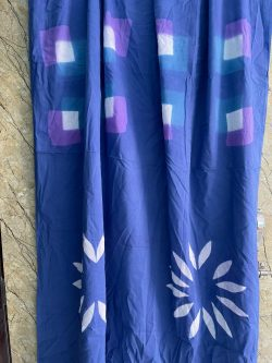 Persian Blue cotton saree With blouse online
