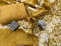 Goldenrod amber chanderi Salwar suit with price